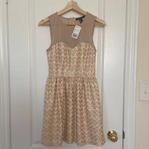 BRAND NEW ROSE GOLD SHIMMERY DRESS